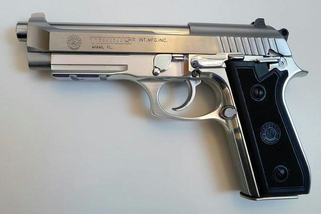 Taurus PT92 is Brazilian-made copy of Beretta 92 (M9)