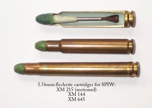 Flechette ammunition was used by AAI ACR rifle