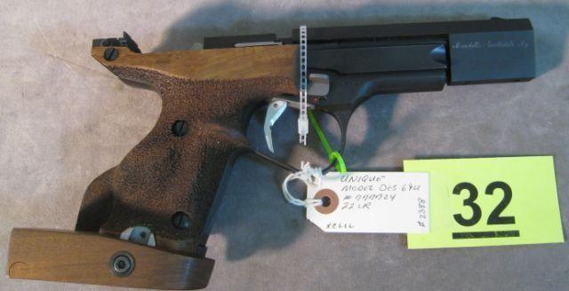 Unique DES-69U Target Auto Pistol