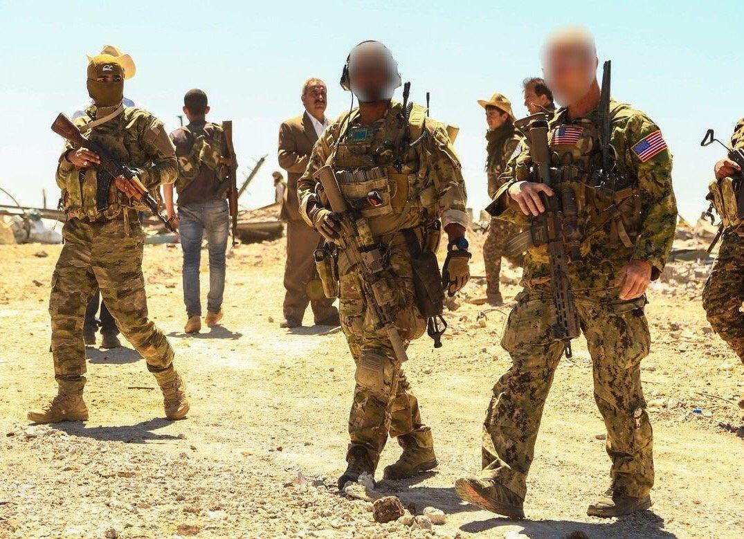 What gear, training, and missions do Delta Force use/do: Two Delta Force (1st SFOD-D) operators alongside the Kurdish forces at undisclosed location