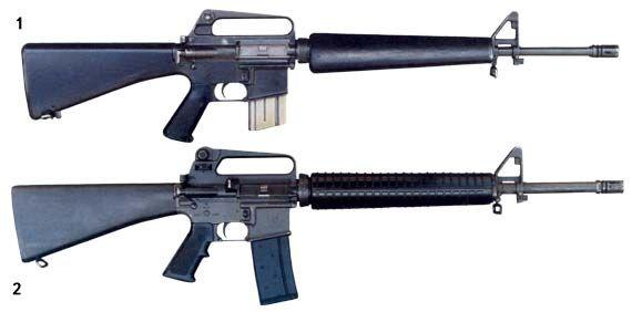 What is the difference between M16A1 and M16A2?