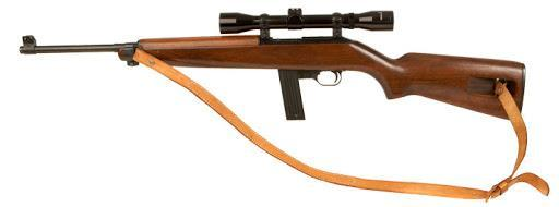 ERMA EM1 chambered in .22 Long Rifle RF with mounted scope