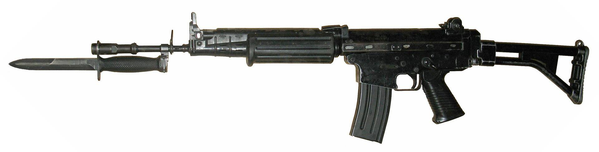 FN FNC rifle equipped with a bayonet