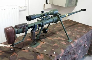 Gepard M1 single-shot 12.7mm Anti-materiel rifle designed and manufactured in Hungary
