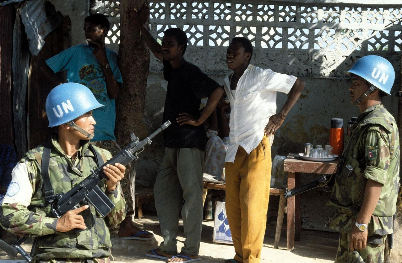 A UN peacekeeper from Nepal with the 7.62mm Galil SAR