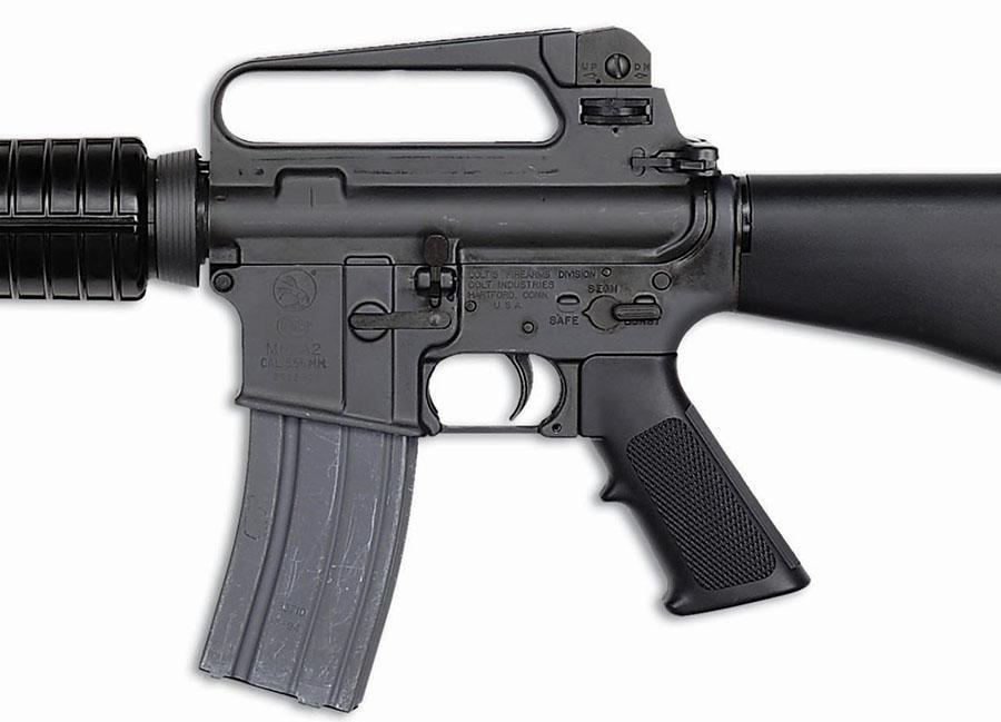 M16A2 pistol grip and fire selector