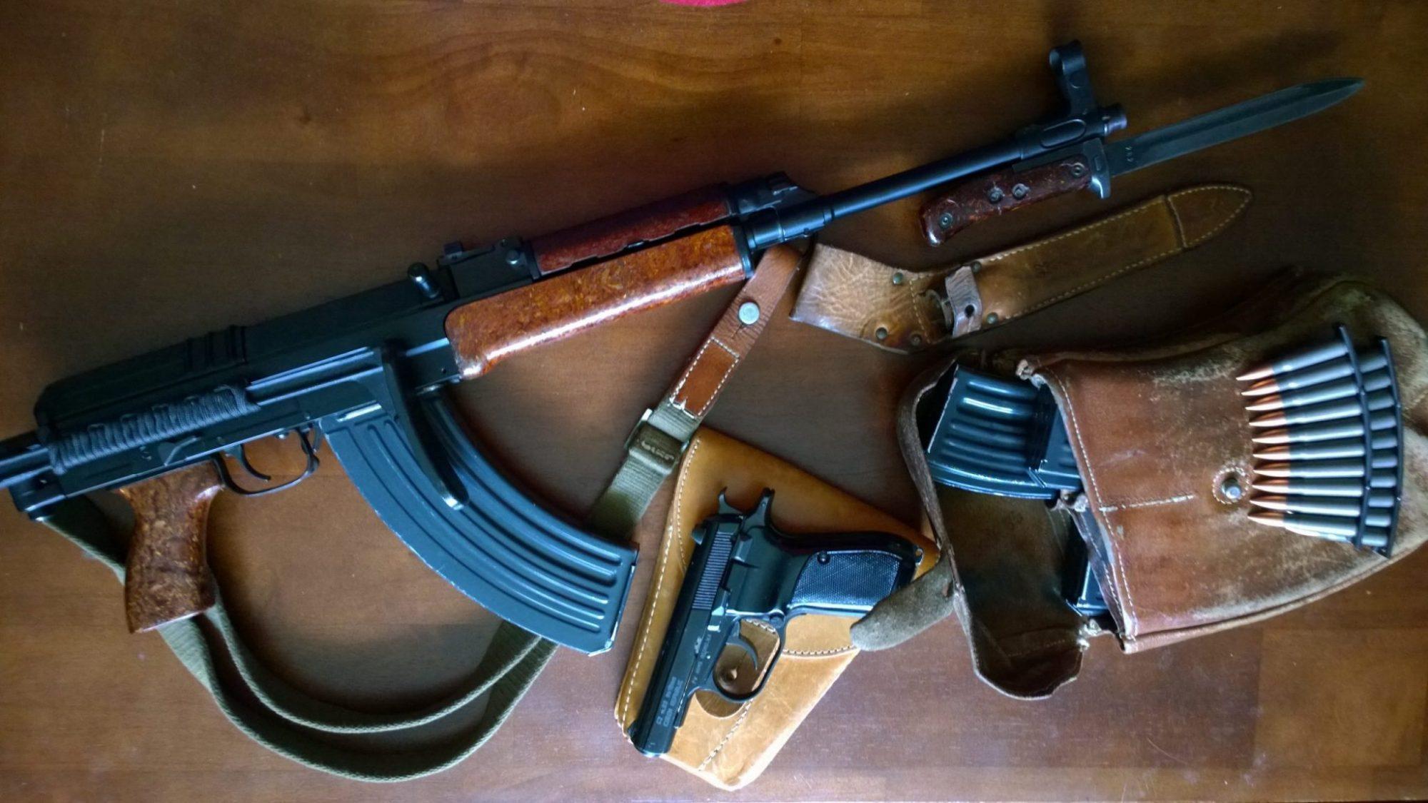 SAMOPAL vz. 58 assault rifle chambered in 7.62 x 39 mm Soviet