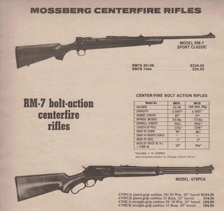 Mossberg RM-7 Centerfire Rifle was developed in the 1980s and today it is very rare