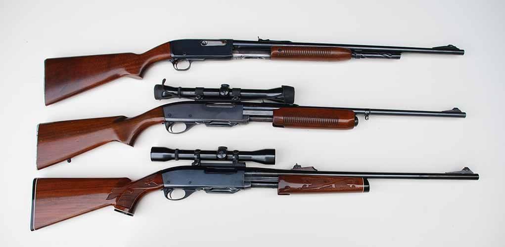 The Remington has long history of slide action rifles