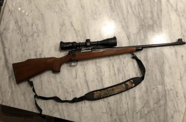 Remington Model 700 7mm Express with Monte Carlo stock and mounted scope