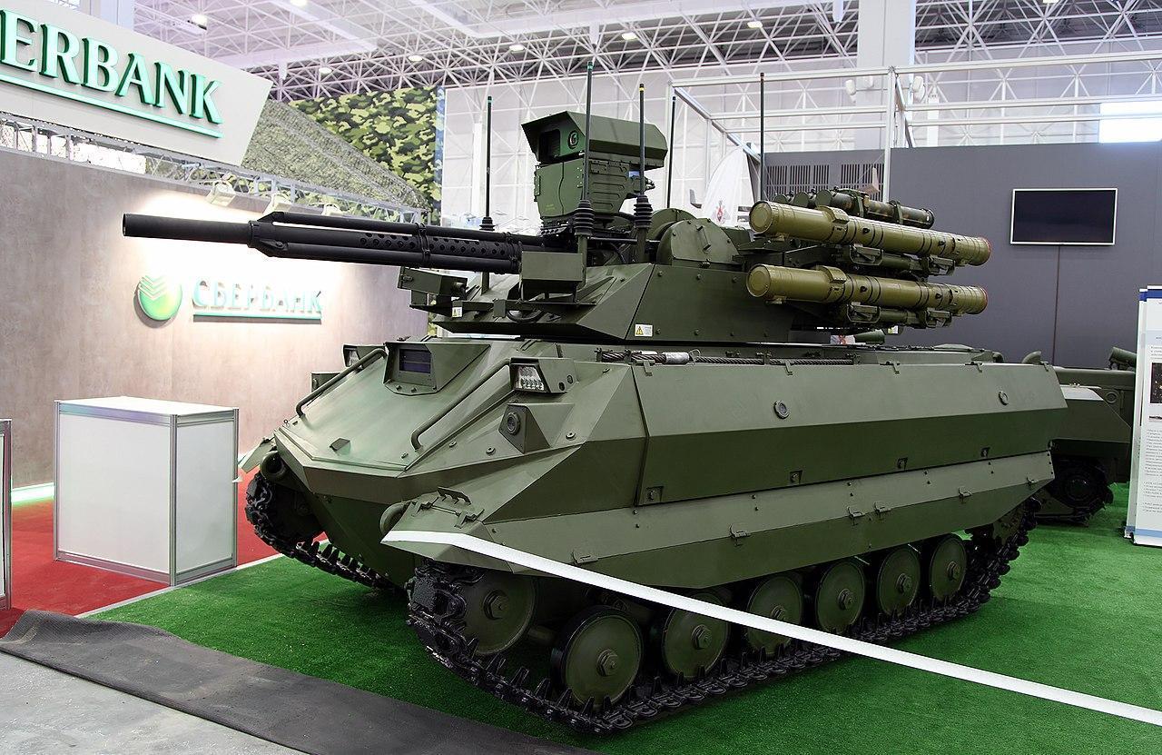 Uran-9 combat unmanned ground vehicle