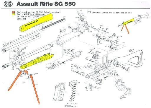 SIG SG 550 parts