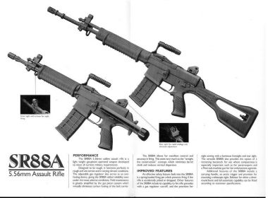 SR 88A assault rifle chambered in 5.56mm