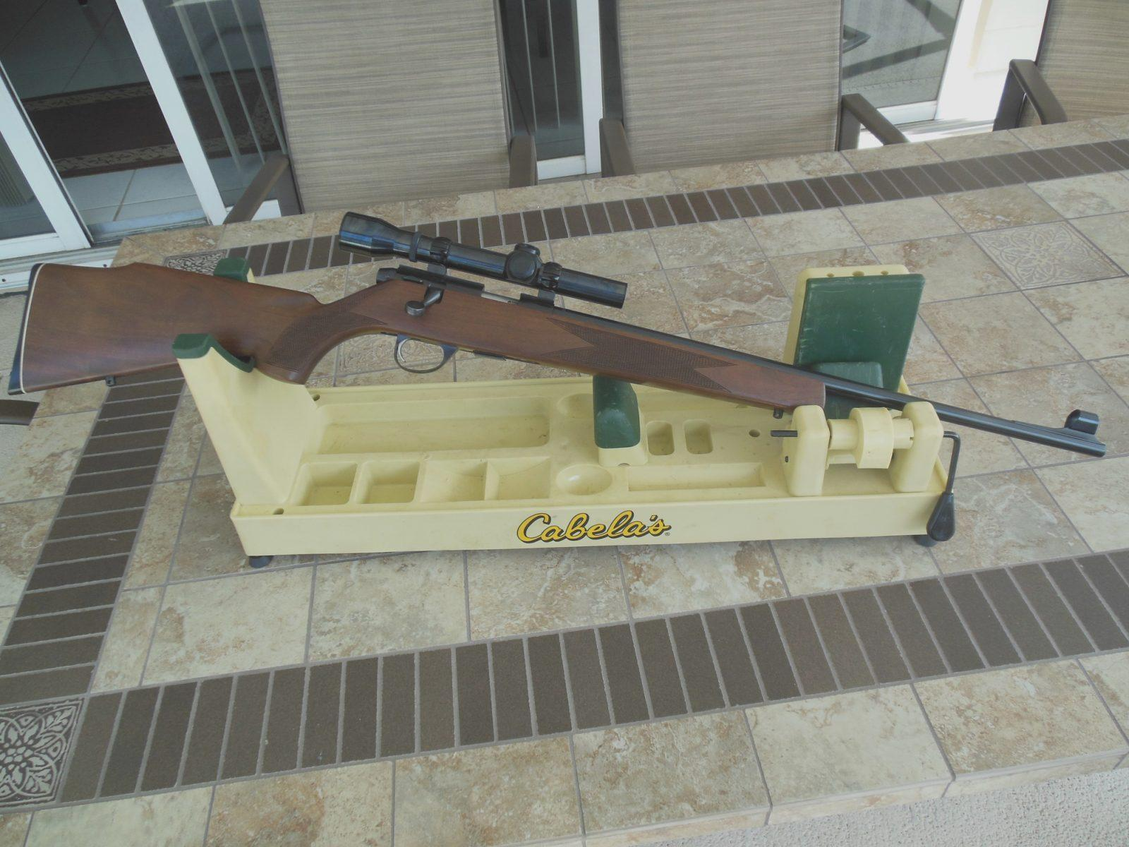 Sako P72 with scope mounted