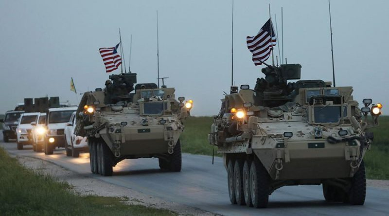 U.S. Military armored vehicles in Syria in 2017