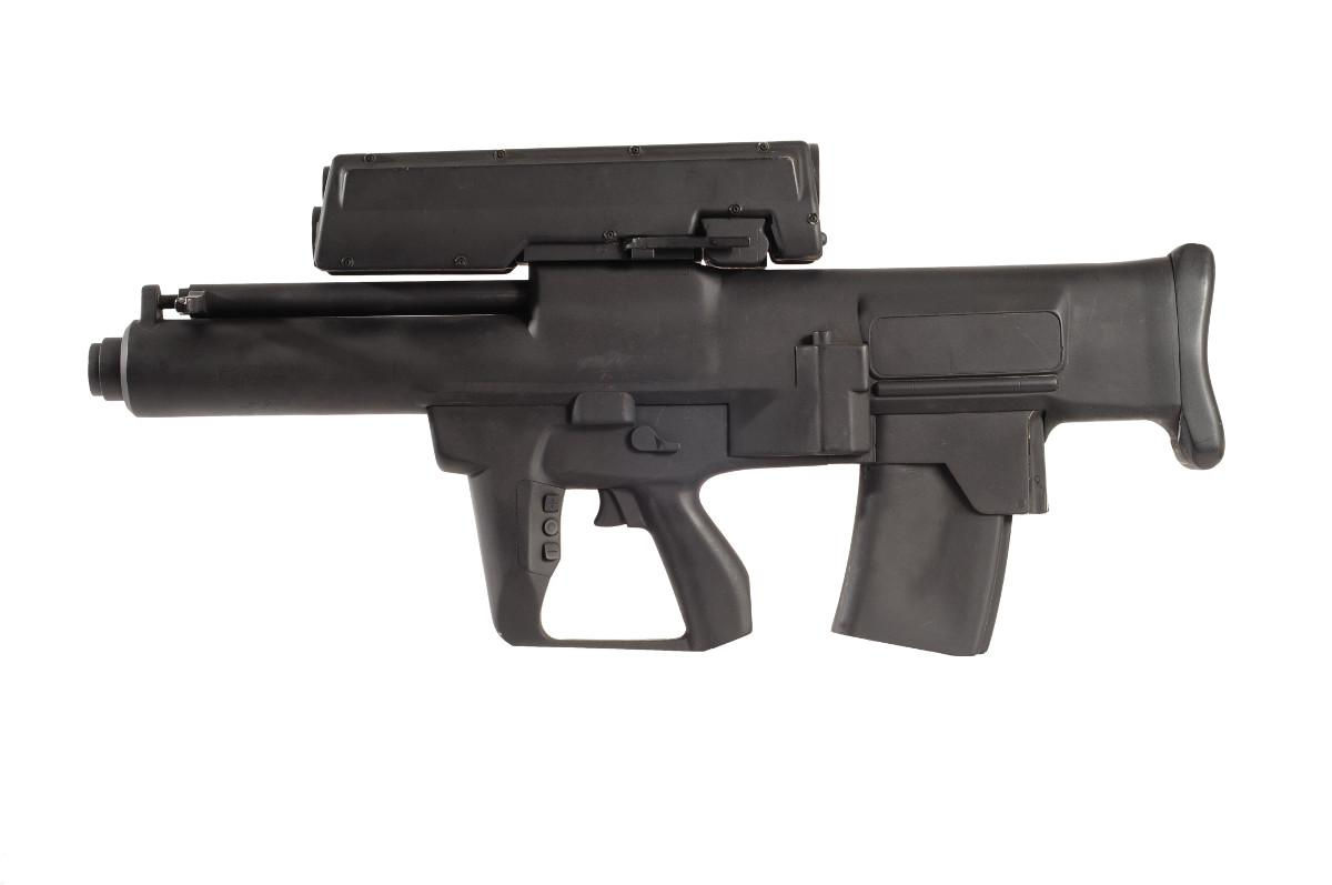 """A mockup of the XM25 """"Punisher"""" grenade launcher"""