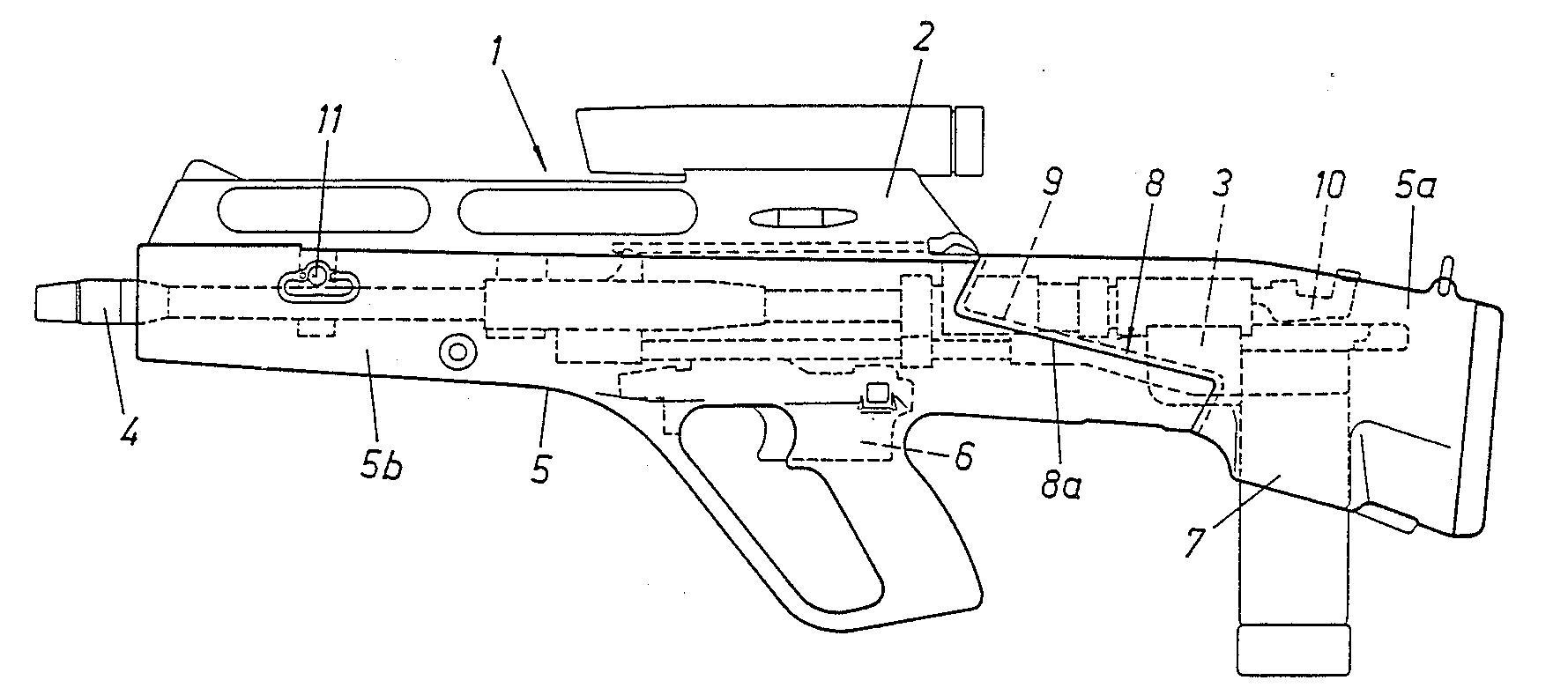 Steyr ACR (Advanced Combat Rifle) layout schematic