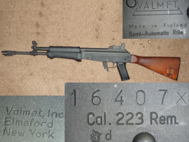 Valmet M76 rifle chambered in .223 caliber