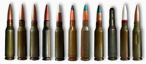 all variants of 5.45x39 mm cartridges