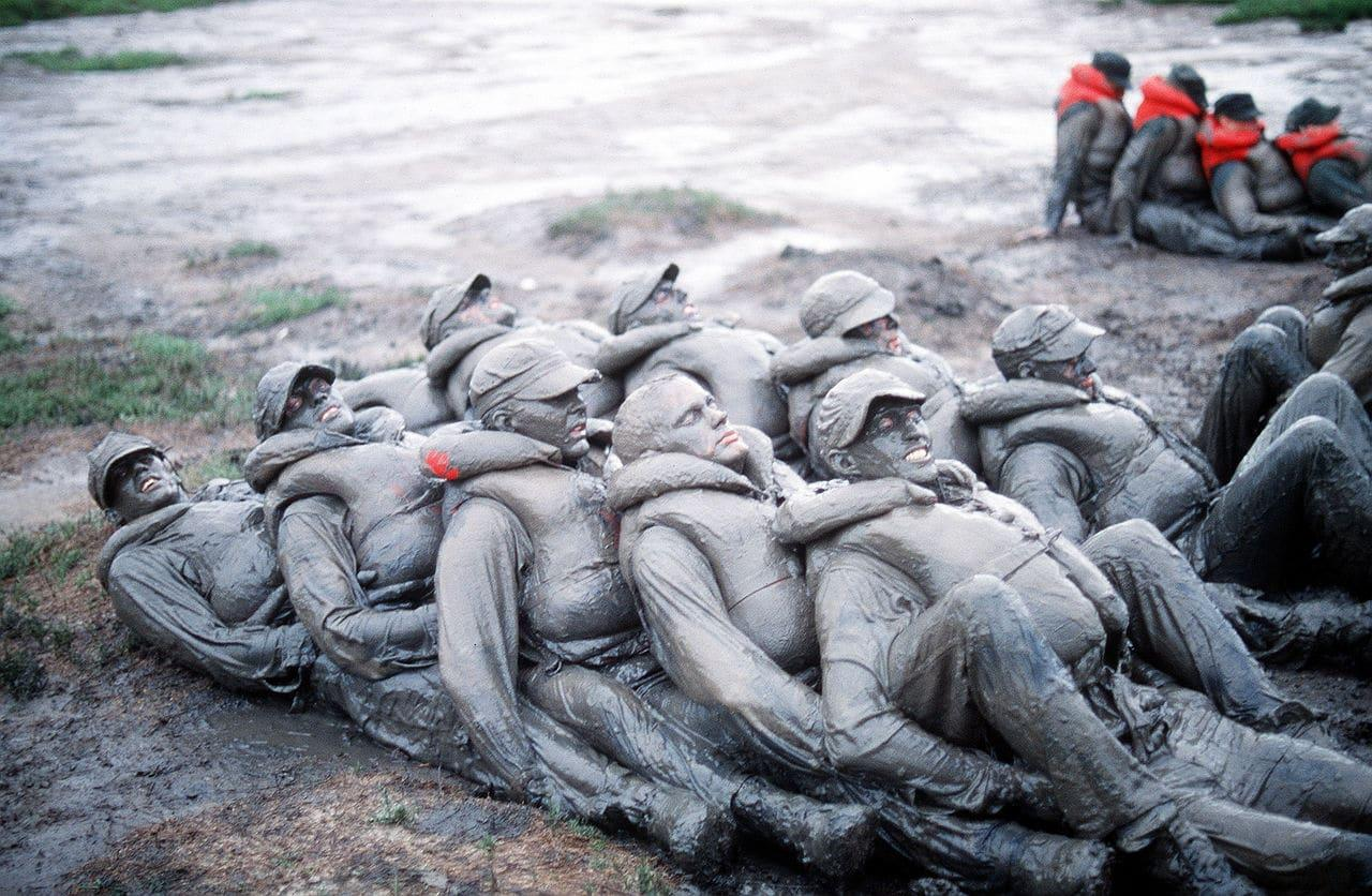 BUD/S Phase 1: Candidates covered in mud