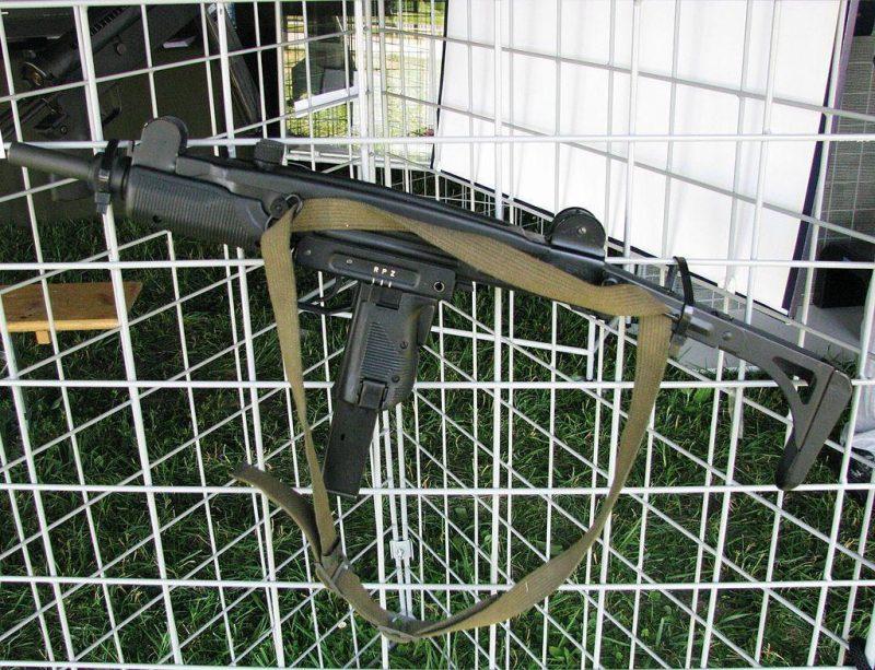 ERO is Croatian submachine gun chambered in 9x19 mm and based on Israeli UZI