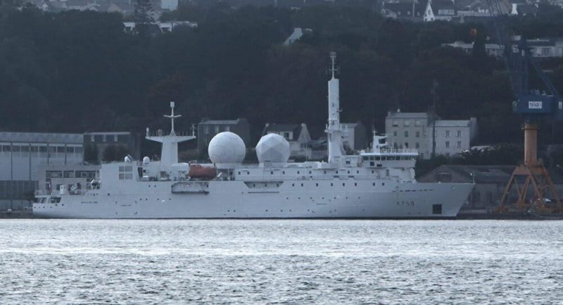 French Navy Dupuy de Lome intelligence ship