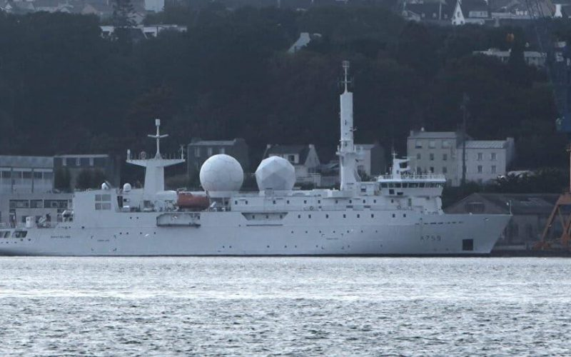 French Navy Dupuy de Lome intelligence ship