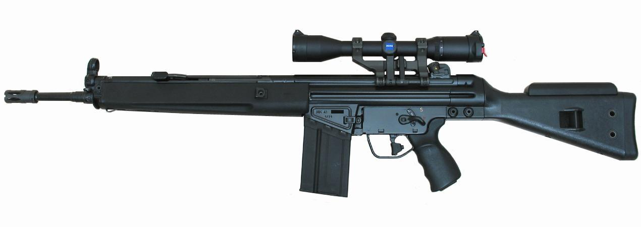 Heckler and Koch HK91 was based on the design of the HK41 rifle designed and produced in 1970s