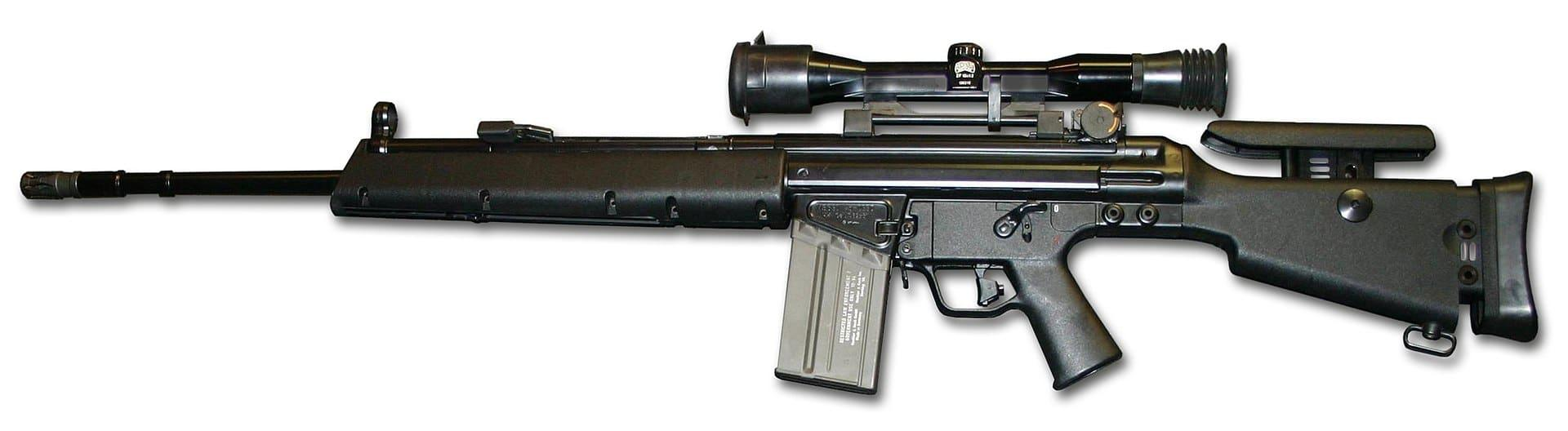 A militarized version of the PSG1: Heckler and Koch MSG90