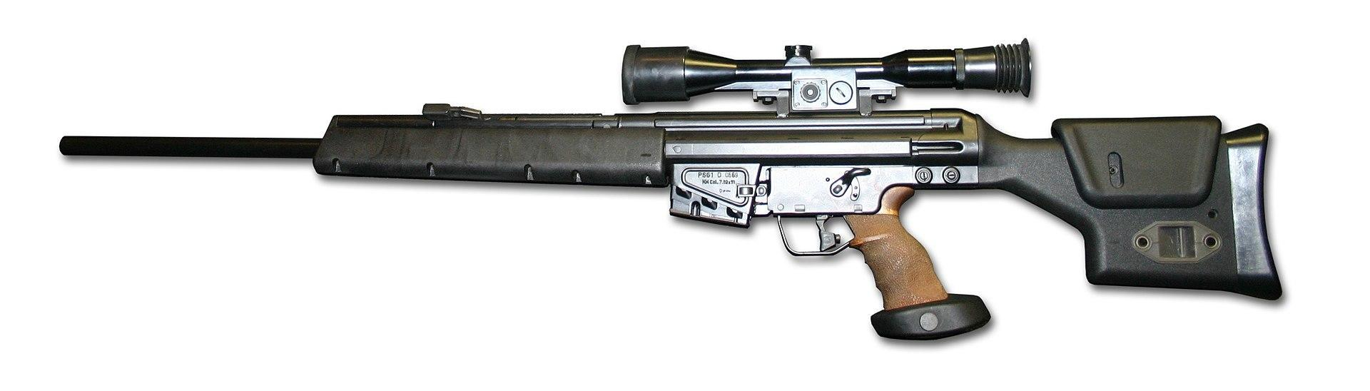 Heckler and Koch PSG1 sniper rifle chambered in .308 Winchester