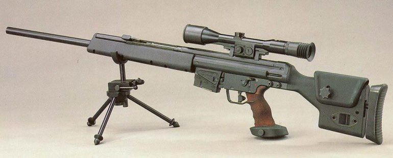 Heckler and Koch PSG1 on tripod