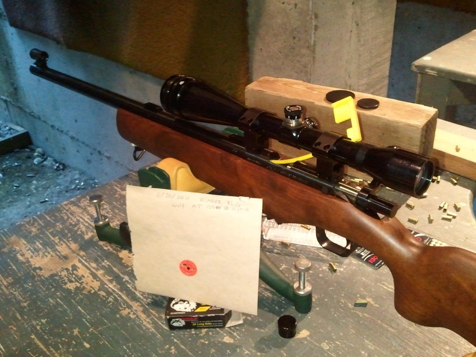 Kimber M82 is chambered in .22 Long Rifle RF
