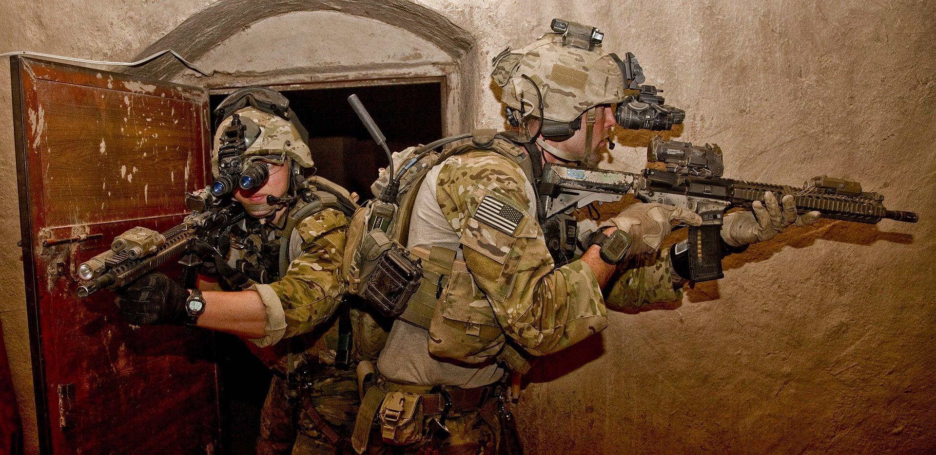 Operators with an M4A1 SOPMOD Block II in Afghanistan in 2012