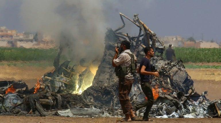 On August 1, 2016, an Mi-8 transport helicopter has been shot down by ground fire in Idlib province after a delivery of humanitarian aid to the city of Aleppo