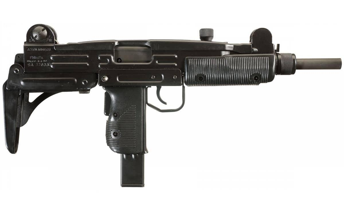 The Uzi s a family of Israeli open-bolt, blowback-operated submachine guns