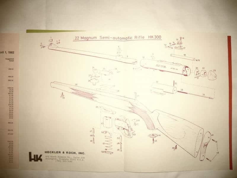Heckler & Koch HK300 Schematic and Diagram