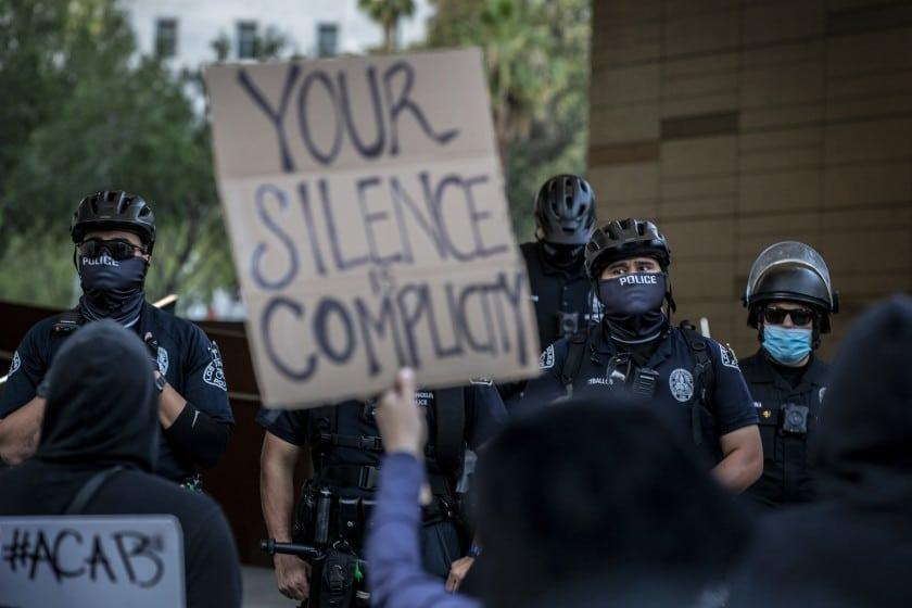 Protests against police in the United States following the death of the George Floyd, an Afroamerican killed by police in 2020